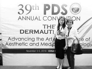 Dr. Julieta Peralta Arambulo, best  dermatologist , Fellow of Philippine Dermatological Society. With her is Dr. Maria Julieta Arambulo Cordero also a board certified dermatologist